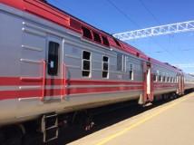 Modern RZD long-distance train