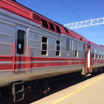 Modern RZD long-distance train